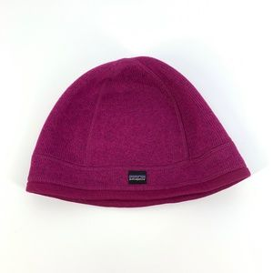 Patagonia Magenta Lined Beanie Hat